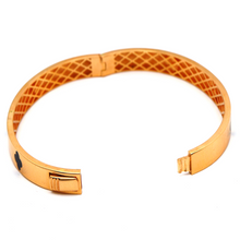 Real Gold LV Rose Gold Bangle (SIZE 17) BA1201 - 18K Gold Jewelry