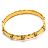 Real Gold VC Bangle (SIZE 16) BA1203