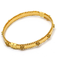 Real Gold VC Bangle (SIZE 17) BA1204 - 18K Gold Jewelry