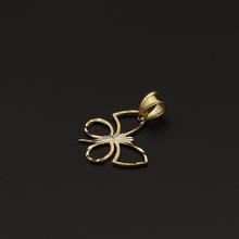 Real Gold 2C Butterfly Pendant 002 - 18K Gold Jewelry