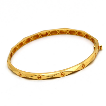 Real Gold Cr Bangle (SIZE 17) BA1205