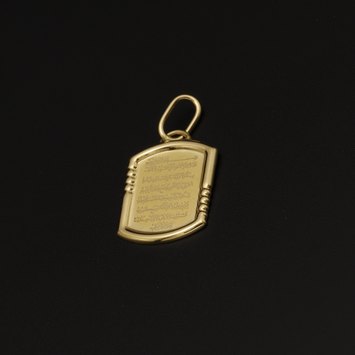 Real Gold Allah Frame-B Pendant P1570 - 18K Gold Jewelry