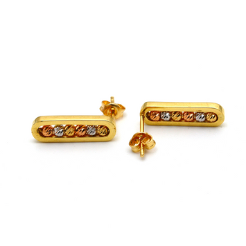 Real Gold 3 Color Messika Earring Set E1590