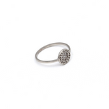 Real Gold BV Round White Gold Ring (SIZE 7) R1581