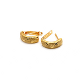 Real Gold Texture Star Curved Earring Set E1591