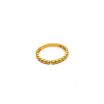 Real Gold 4 Bubble Ring (SIZE 6.5) R1587