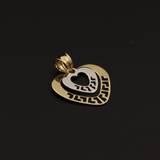 Real Gold 2C MH 2 Heart Pendant
