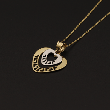 Real Gold 2C MH 2 Heart Necklace
