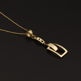 Real Gold Chain With Gold Belt Pendant
