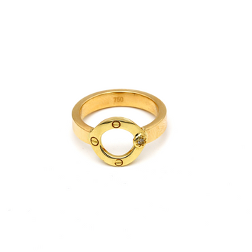 Real Gold CR Round Ring (SIZE 7.5) R1589