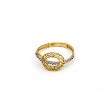 Real Gold Maze Hoop Ring (SIZE 7.5) R1590 - 18K Gold Jewelry