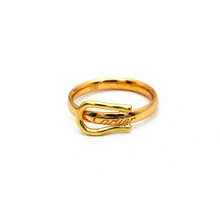 Real Gold Cr Belt Ring (SIZE 7) R1593 - 18K Gold Jewelry
