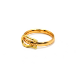 Real Gold Cr Bely Ring (SIZE 7) R1593