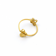 Real Gold 2 Side butterfly Ring (SIZE 7) R1594 - 18K Gold Jewelry