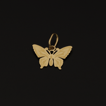 Real Gold Butterfly Pendant 001 - 18K Gold Jewelry