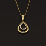 Real Gold 2 Color Drop Necklace - 18K Gold Jewelry