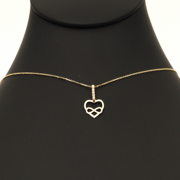 Real Gold Infinity Heart Necklace N1208