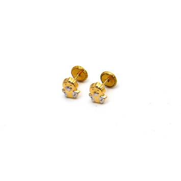 Real Gold Tweety Screw Earring Set K1193