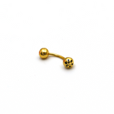 Real Gold Curved Nose or  Eye Piercing NP1006