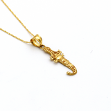 Real Gold Sword Necklace 362 - 18K Gold Jewelry