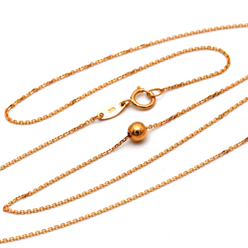 Real Gold Smaller Ball Rose Gold Necklace K1070