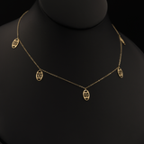 Real Gold CH 1 Color Dangler Necklace