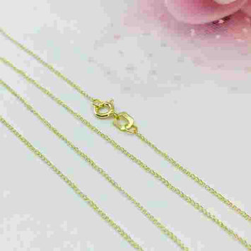 Real Gold Chain (45 C.M) 0563 - 18K Gold Jewelry