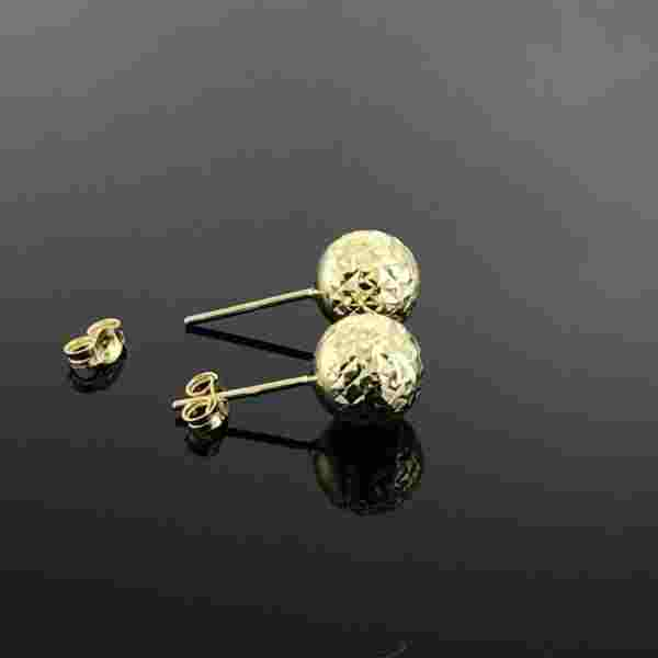 Real Gold Glittering Earring Set - 18k Gold Jewelry