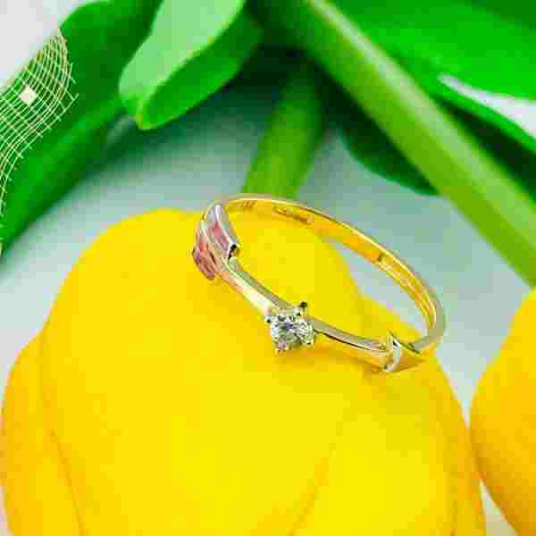 Real Gold Ring (SIZE 5.5) 0758 - 18k Gold Jewelry