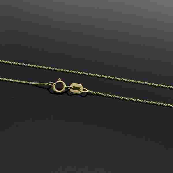 Real Gold Round Cable Chain (42.5 C.M) 03 - 18k Gold Jewelry
