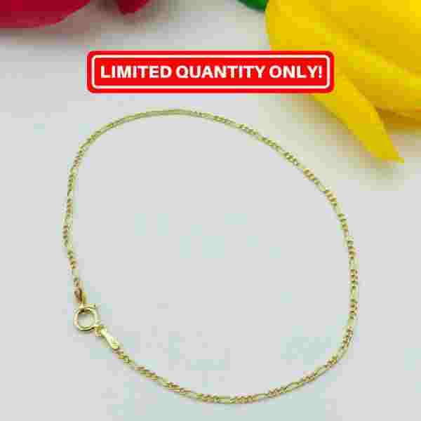 Real Gold Thinner CR Bracelet - 18k Gold Jewelry