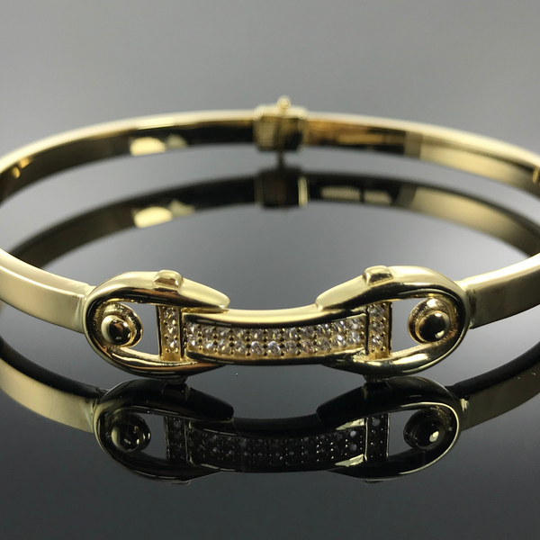 Real Gold Bangle GZBL17