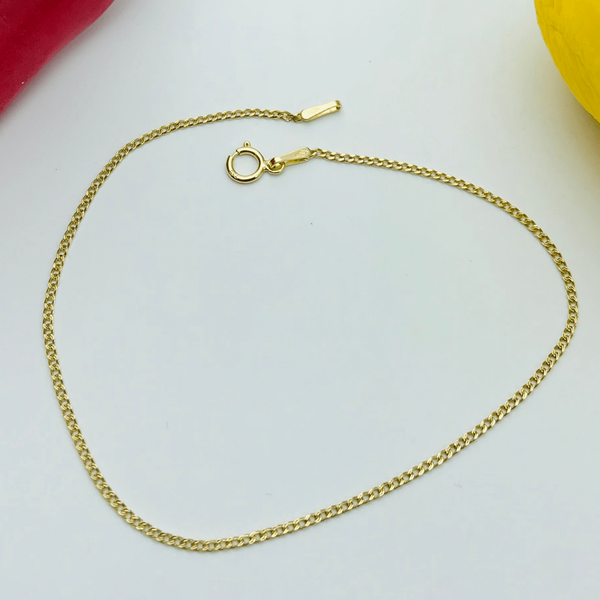 Real Gold Thin Flat Bracelet - 18k Gold Jewelry