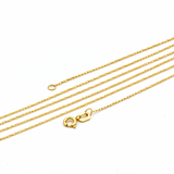 Real Gold Small Flat Maze Hoop Necklace CWP 1635 - 18K Gold Jewelry