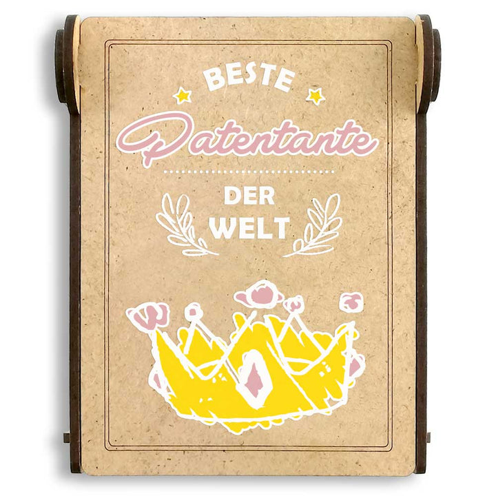 CANDLE in the BOX | beste Patentante der Welt | personalisiert mit Foto & mit Namen