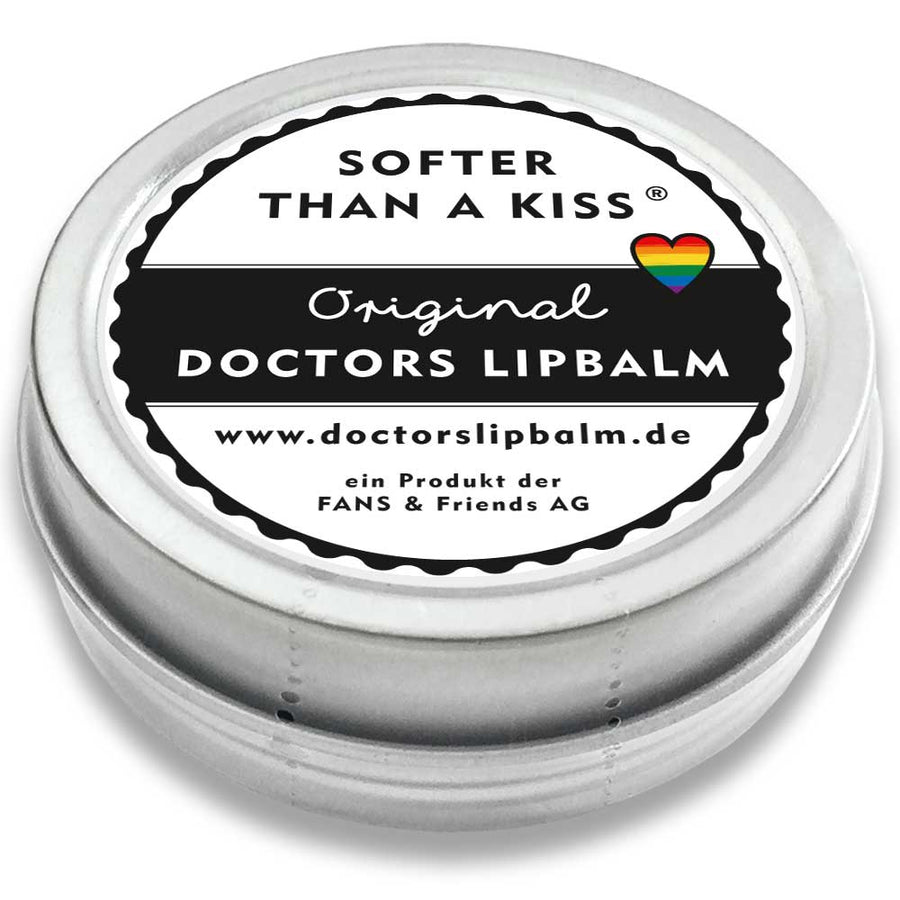 DOCTORS LIP BALM | Lippenpflege mit Bienenwachs | Metalldose im Retro-Design | Motiv: LOVE is LOVE
