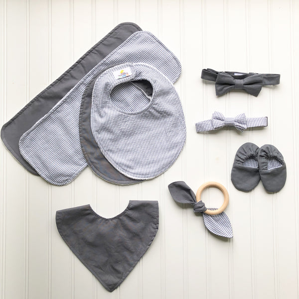 Graphite & Grey Seersucker Baby Collection