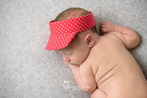 Newborn Visor Photo Prop - Red Dot
