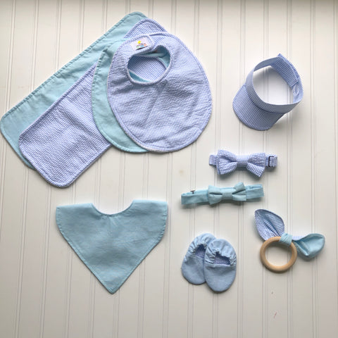 Baby Blue & Seersucker Collection