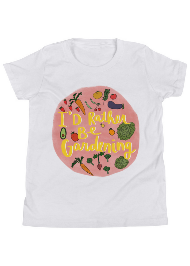 I'd Rather Be Gardening Kid's Tee