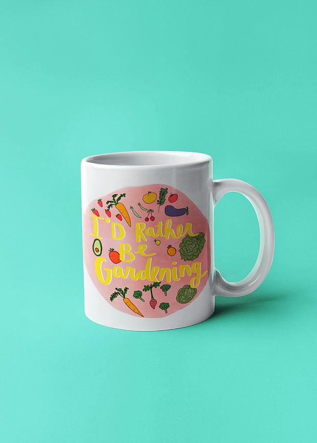 I'd Rather Be Gardening Mug
