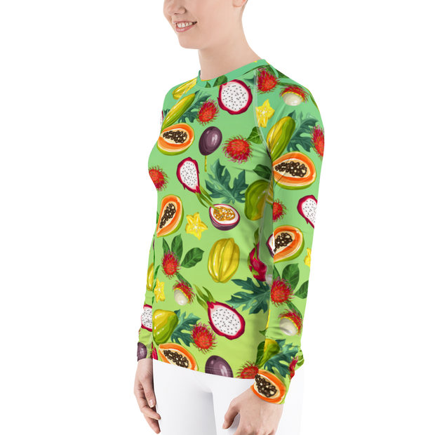 Tropical Fruit Lover's Athletic Rash Guard
