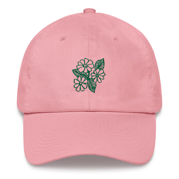 Flower Power Embroidered Dad Hat