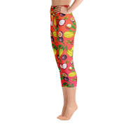 Tropical Fruit Lover's Yoga Leggings