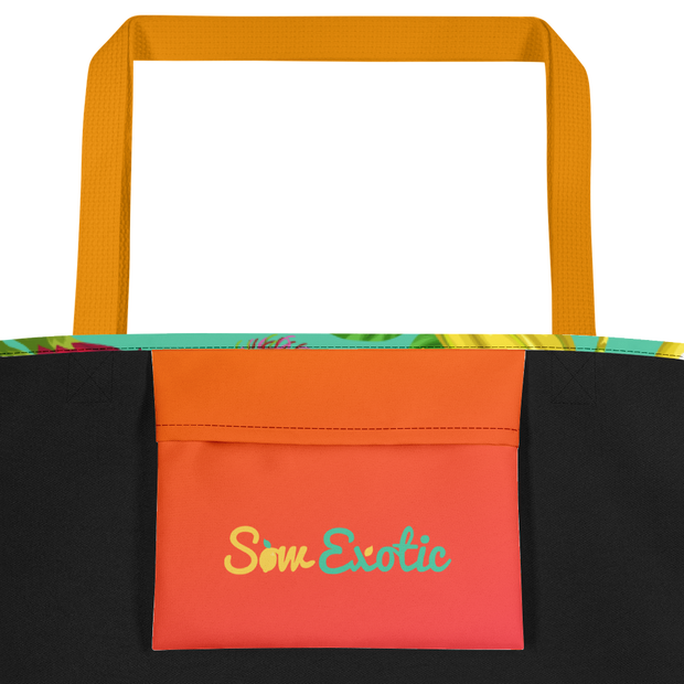 Tropical Fruit Lover's Beach Bag & Harvest Tote