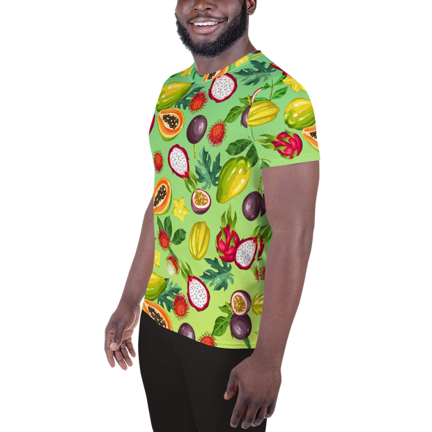 Tropical Fruit Lover's Men's Athletic T-shirt