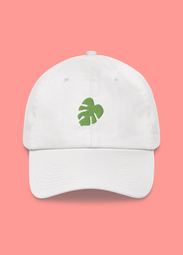 Monstera Embroidered Dad Hat
