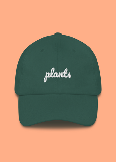Plants Embroidered Dad Hat