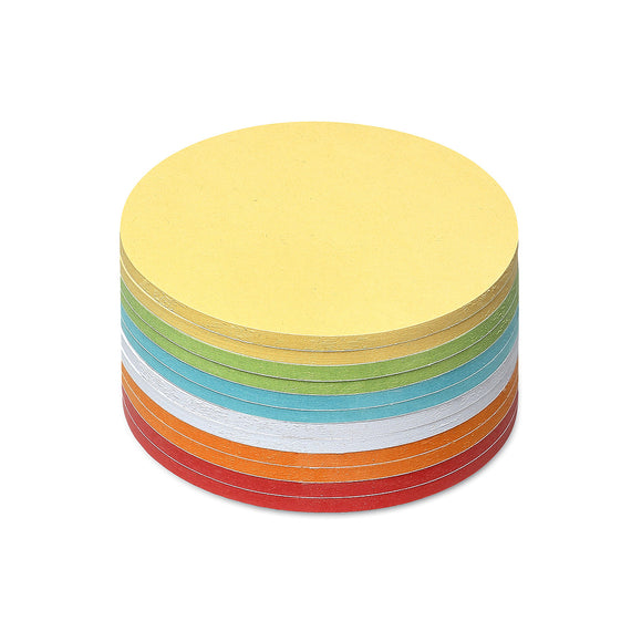 300 Small Circular Stick-It Cards, assorted colours