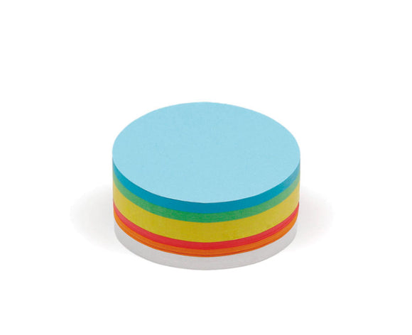 250 Medium Circular Pin-It Cards, assorted colours